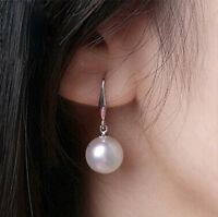Pearl Earring Silver Plated Hook Elegant Prom Celebrity Drop Droplet UK Seller