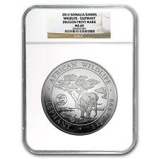 2012 Somalia 1 kilo Silver Elephant MS-69 NGC (Dragon Privy) - SKU #66722