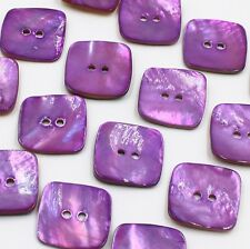 Real Pearl Shell Button Lot 10 25mm 40L Natural Agoya Purple Square DIY Crafts