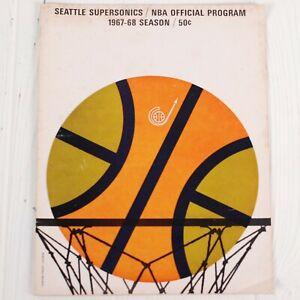 Phil Jackson Rookie Signature 67 Seattle VS New York NBA Program Team Autograph