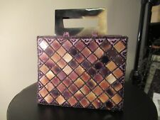 Vintage Brown Tortoise Shell/Lucite and Beaded Small Handbag