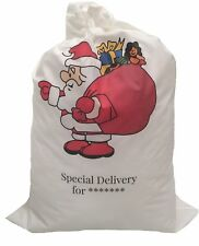 Santa Sacks Personalised Add Name Message 50 X 75 Cm Cotton Pick Your Design SB 1