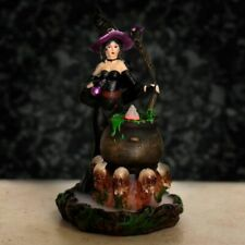 Witches Cauldron Backflow Incense Cone Burner Lovely Gift Halloween BACK17