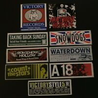 9 Victory Records Stickers Lot Taking Back Sunday Hawthorne Heights Snowdogs A18