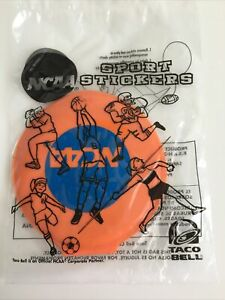 Taco Bell Kids Meal NCAA Sport Stickers