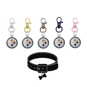 Pittsburgh Steelers Pet Tag Collar Charm Football Dog Cat - Pick Your Color