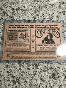Karen Carpenter; Carpenters; The Carpenters; Concert; Tour; Advert, Flyer; Rare
