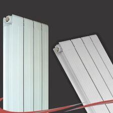 """318mm(w) x 1800mm(h) """"Vesuvius"""" Vertical White Aluminium Radiator - 4406 BTUs"""