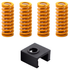 4 x Creality Ender-3 Ender 3 Pro CR-10 S Upgraded Flat Bed Springs + Hotend Sock