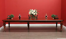 Antique English Mahogany Extension Kitchen Dining Room Table 5 Extension Leaves