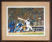 """PAUL CALLE 1977 OFFICIAL WORLD SERIES LITHOGRAPH / REGGIE JACKSON """"MR. OCTOBER"""""""