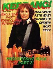 Kerrang! Magazine #37 Eddie Clarke Manowar Kiss Progressive Rock Pt 2