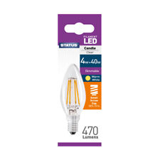 Status LED Light Bulb 4W = 40W 470 Lumens SES / E14 Dimmable - Warm White (4PK)