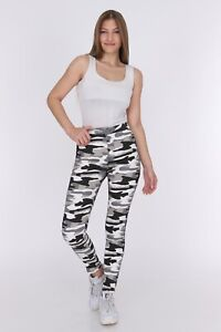RIPPED SKINNY SLIM JEAN JEGGINGS HIGH WAISTED WOMEN MILITARY CAMO PANTS