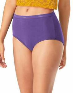 Hanes Women's Panties 6-Pack No Ride Up Cotton Brief Cut Underwear Cool Comfort