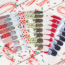 Color Street Nail Polish Strips Holiday Christmas Styles