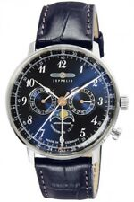 ZEPPELIN 7036-3 Hindenburg Mens Watch Navy Dial Plate Fast Shipping Japan EMS