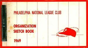 Rare 1969 Philadelphia Phillies Baseball Organization Sketch Book