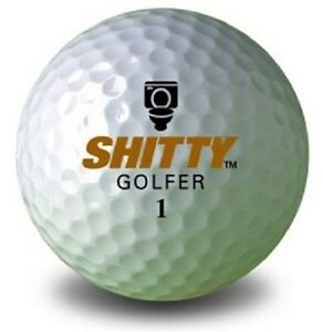 1 Dozen (Funny Golfer Logo) Precept Mint Golf Balls Novelty Funny Golf Balls