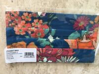 Johnny Was Mask 1 Piece Floral Masks New Health Flower Lined NEW SAFE only 1