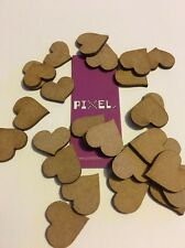 Heart MDF Shapes Approx 20mm x25 Scrap book Booking Wedding