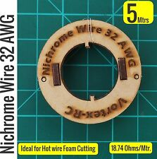 Nichrome wire - For Hot wire Foam cutting (5 Meters) 32AWG. High quality.