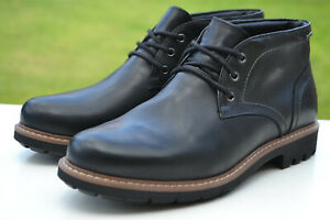 Clarks BNIB Mens Waterproof Chukka Boots BATCOMBE LO GTX Black Leath UK 10 /44.5