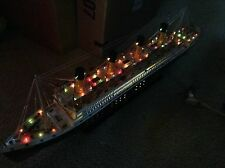 Titanic wooden model cruise ship with flashing light 40""