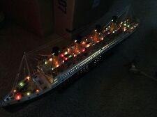 """Titanic wooden model cruise ship with flashing lig 00004000 ht 40"""""""