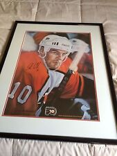 JOHN LECLAIR SIGNED AND FRAMED PRINT  FROM PHILADELPHIA FLYERS CHARITIES