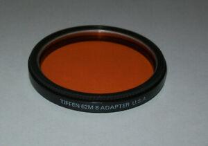 TIFFEN 62MM SCREW IN SERIES VIII 8 FILTER HOLDER ADAPTER RING WITH ORANGE FILTER