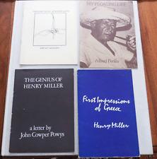 HENRY MILLER Alfred Perles John Cowper Powys Lot 4 Pamphlets