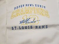 St. Louis Rams Sweatshirt Large Super Bowl XXXIV Champion Kurt Warner 13