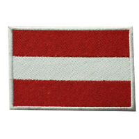 Austria National Country Flag Patch Iron On Patch Sew On Badge Embroidered Patch