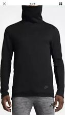 NIKE SPORTSWEAR TECH FLEECE FUNNEL KNECK MENS HOODIE BLACK Sz SMALL  805214-010
