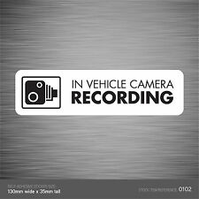 SKU102 - In Vehicle Camera Recording Car Sign Sticker - CCTV - Go Pro - Dashcam