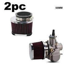 2X Red Motorcycle ATV Air Intake Parts Air Intake Filter 55mm Universal Washable