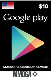 $10 US Dollar Google Play Card Key - 10 USD Prepaid Digital Code - [US]
