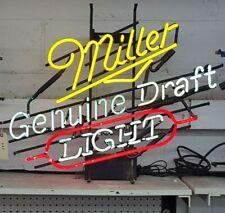 Indoor Neon Miller Light Genuine Draft (beer) Sign