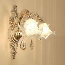Contemporary hallway glass wall lamp sconce fixtures Led mirror wall light shade