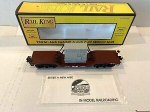 NEW RAILKING MTH ELECTRIC TRAIN-DEPRESSED FLATCAR W/TRANSFORMER- O-SCALE 30-7612