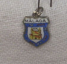 Vintage REU Sterling/Enamel Malaga, Spain Charm - New