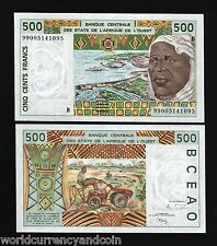 WEST AFRICAN STATES BENIN 500 FRANCS P210 B 1999 DAM UNC CURRENCY MONEY BANKNOTE