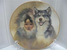 RARE Perillo Siberian Husky Dog Eskimo Child Plate MINT