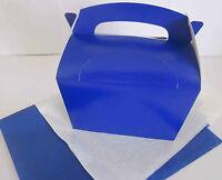 Azul Regalo Caja y x2 PAPEL DE SEDA DETALLE Picnic Almuerzo Para Comida - Fiesta