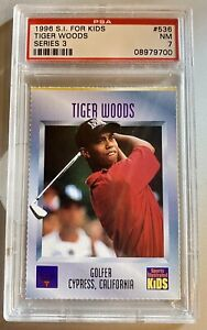 1996 Sports Illustrated For Kids Tiger Woods PSA 7 NM #536 Golf ROOKIE RC HOT!🔥