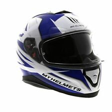 MT Thunder 3 SV Effect Full Face Motorcycle Motorbike Helmet - White/Blue