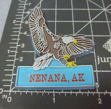 Alaska Rubber style Fridge Magnet, NENANA bald eagle, nice Alaska collectible!