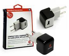EU Main Wall 2Pin Plug Adapter Charger USB Port Universal Phone Tablets SET OF 2