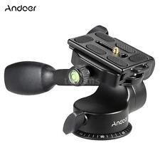 Video Tripod Fluid Ball Pan/Tilt Head Quick Release Plate for DSLR Camera K2Z3